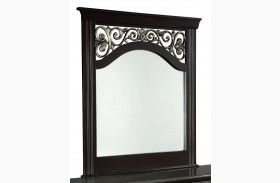 Madera Ebony Black Panel Mirror