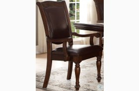 Lordsburg Brown Cherry Arm Chair Set of 2