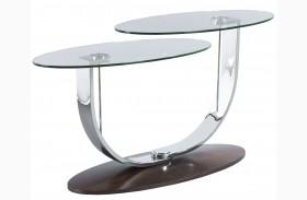 Pivot Walnut Veneers Sofa Table