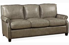 Kingston Vintage Cameo Light Gray Leather Sofa