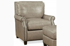 Kingston Vintage Cameo Light Gray Leather Chair