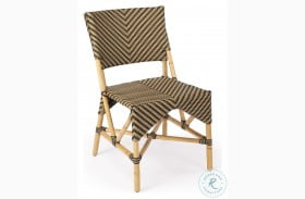 Ciel Beige And Black Diamond Rattan Dining Chair
