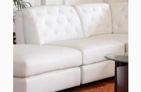 Quinn White Armless Chair