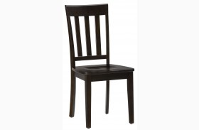 Simplicity Espresso Slat Back Chair Set of 2