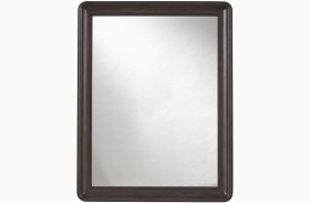 Curated Graphite Stain Roxbury Mirror