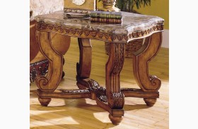 Tarantula End Table_ with Marble Top