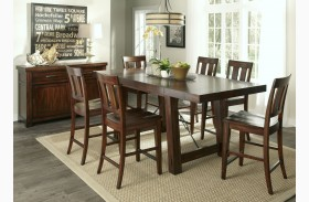 Tahoe Mahogany Stain Extendable Gathering Table