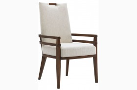 Island Fusion Coles Bay Off  White Fabric Arm Chair