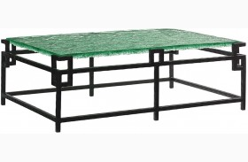 Island Fusion Hermes Reef Glass Top Cocktail Table