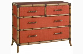 Twin Palms Red Coral Chest