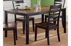 Cafe Black and Cherry Rectangular Leg Table