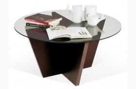 Oliva Walnut Round Top End Table