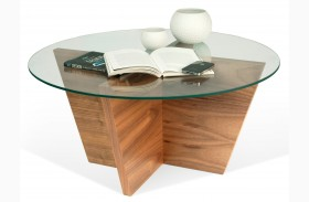 Oliva Wenge Round Top End Table