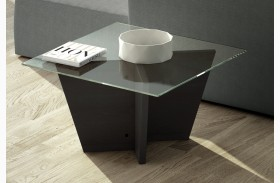 Oliva Wenge Square Top End Table
