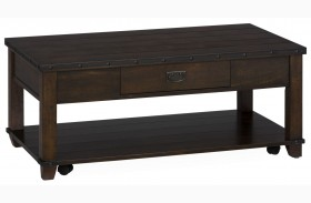 Cassidy Distressed Brown Cocktail Table