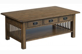 Canyon II Mid Tone Oak Rectangular Cocktail Table