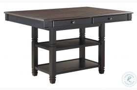 Baywater Natural And Black Counter Height Dining Table