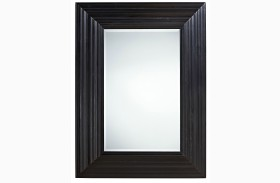 Curated Authenticity Black Portrait Mirror