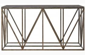 Authenticity Khaki Truss Console Table