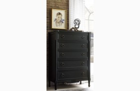 Curated Authenticity Black Drawer Chest