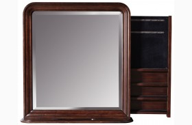 Reprise Classical Cherry Storage Mirror