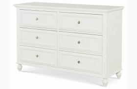 Academy White 6 Drawer Dresser