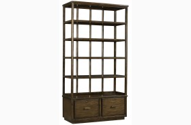 Santa Clara Burnished Walnut Lateral File Bookcase