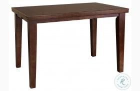 Ameillia Dark Oak Extendable Counter Height Table