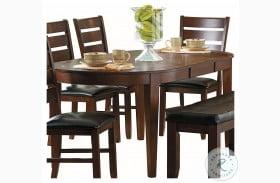 Ameillia Dark Oak Dark Oak Extendable Dining Table