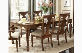 Rustic Tradition Extendable Rectangular Leg Table