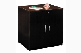 Series C Mocha Cherry 30 Inch Storage Cabinet