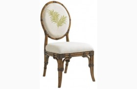 Bali Hai Palm Front Back Gulfstream Oval Back Side Chair