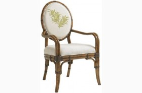 Bali Hai Palm Front Back Gulfstream Oval Back Arm Chair
