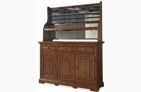 Dogwood Low Tide Credenza with Hutch