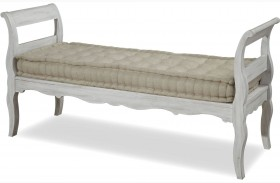 Dogwood Blossom Bed End Bench