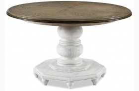 Dogwood Blossom Breakfast Extendable Round Dining Table