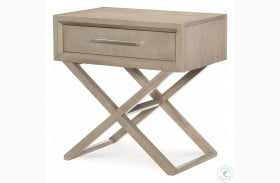 High Line Greige 1 Drawer Bedside Chest by Rachael Ray