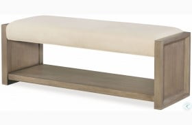 High Line Greige Upholstered Bench by Rachael Ray