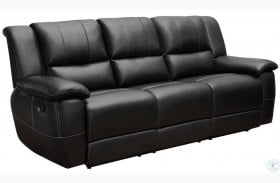 Lee Black Reclining Sofa