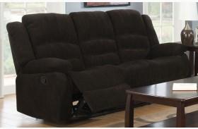 Gordon Dark Brown Reclining Sofa
