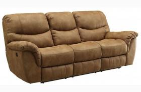 Hancox Light Brown Reclining Sofa