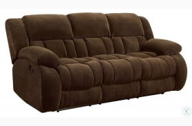Weissman Chocolate Reclining Sofa