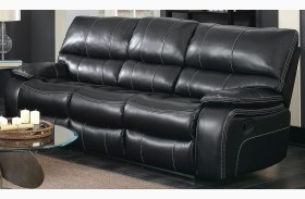 Willemse Black Reclining Sofa