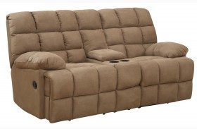 Pickett Mocha Reclining Loveseat