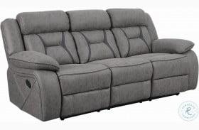 Higgins Gray Reclining Sofa