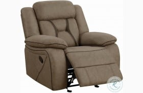 Higgins Tan Glider Recliner
