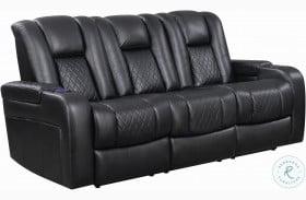Delangelo Black Power Reclining Sofa