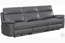 Albany Gray Power Reclining Sofa With Power Headrest