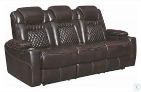 Korbach Espresso Power Reclining Sofa With Power Headrest