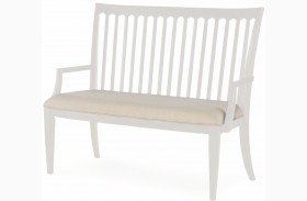 Upstate Bianco Dining Bench by Rachael Ray